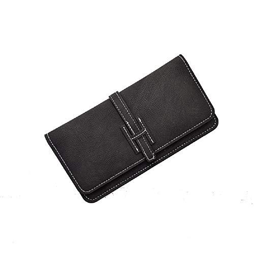 ZHRUI fold Black Handbag Color Bag Purse Two Hand Blue Women Coin Wallet Clutch Clutch take Purse FvqTFxr