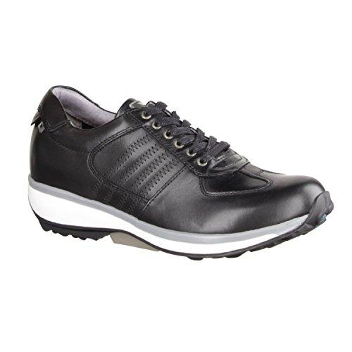 X sensible England 300013002 - Zapatos cómodos / relleno suelto Zapatos mujer Cómodo Zapatos de cordones, Negro, piel ceñida