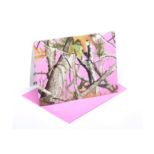 Pink Camo 8 Pack Invitations and Envelopes, Pink Camo Party Collection by Havercamp]()
