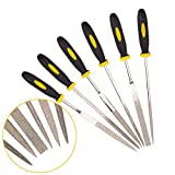 JinFeng Diamond Needle File Set(6 pcs 170 Grit Precision Steel File) Hand Metal Tools