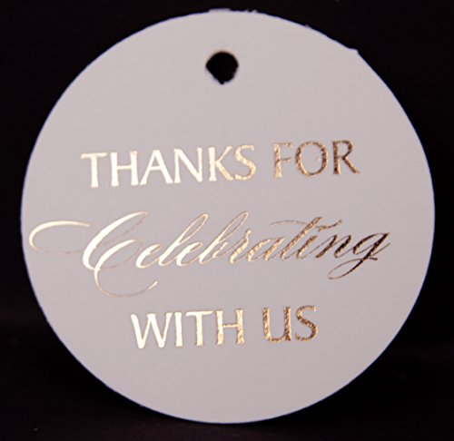 Thank You Tags, Rose Gold Foil, 30 Pack, Party Wedding Collection (Rose Gold Tags Round Circle ()