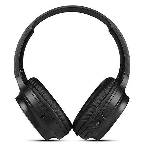 Aerizo Bluetooth Headphones 5.0 True Wireless Headphone High Bass, Noise Canceling, Built-in Mic with 1500mAh for All Mobiles & Other Devices (Random Colour)