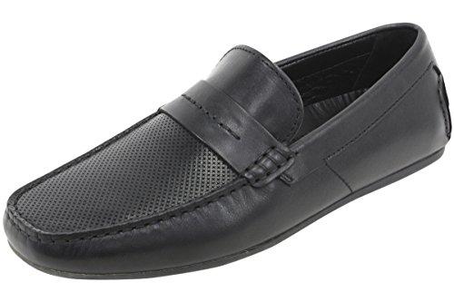 HUGO by Hugo Boss Men's Travelling Dandy Moccasin Leather Slip-On Loafer, Black, 43 EU/10-10.5 M - In Hugo Boss Uk