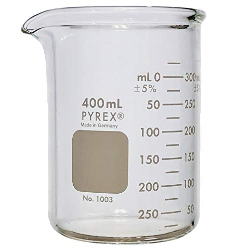 PYREX Heavy Duty Griffin 1003 400mL Beaker Double Scale Graduated; Each ()