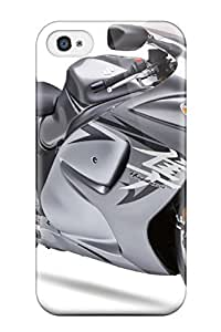 Andrew Cardin's Shop 6959350K78854212 High-quality Durability Case For Iphone 4/4s(2009 Suzuki Hayabusa Gsx 1300 R Silver)