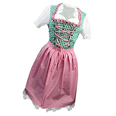 MonkeyJack Oktoberfest Beer Girl Maiden Wench German Bavarian Heidi Fancy Dress Costume