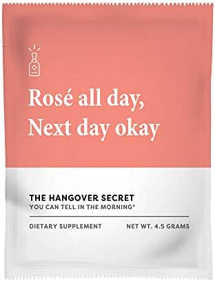Hangover Secret - Best Alcohol Recovery and Hangover Prevention remedy backed by Science. Natural Liver Detox. Vitamins and Electrolytes for Replenishment. N-Acetylcysteine Milk Thistle powered. (6ct)