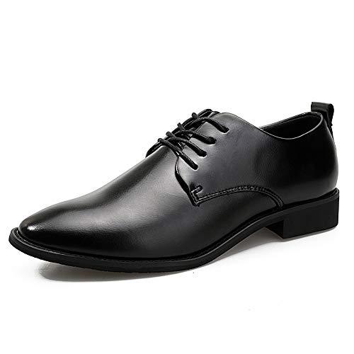 Ofgcfbvxd Scarpa casual da uomo Oxford comode e leggere nuove scarpe formali (un cortile meno del normale) Calzature per il lavoro aziendale (Color : Nero, Dimensione : 38 EU) Nero