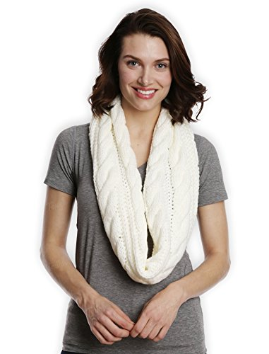 Chunky Cable Knit Infinity Scarf by Tough Headwear - Stay Warm & Stylish Year Round - Circle Loop...