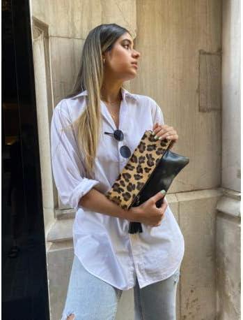 Damen Clutch mehrfarbig leopardenmuster Ateliers Florentins
