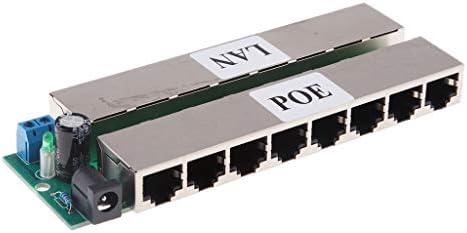 P Prettyia IPカメラワイヤレスブリッジ用のイーサネット経由のプレミアム8ポートPOE電源インジェクター