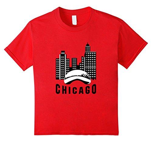 Kids Chicago T-Shirt Chi-Town Cloud Gate City Skyline Tee 8 - 8 Gate Town
