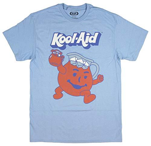 Kool-Aid Men's Man Face Logo T-Shirt (Light Blue, Small)