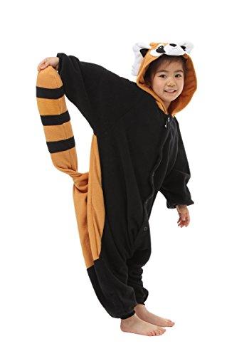 Boys Panda Costumes (Red Panda Kids Kigurumi (5-9 Years))