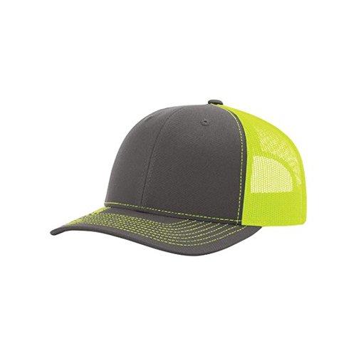 Richardson Charcoal/Neon Yellow 112 Mesh Back Trucker Cap Snapback Hat