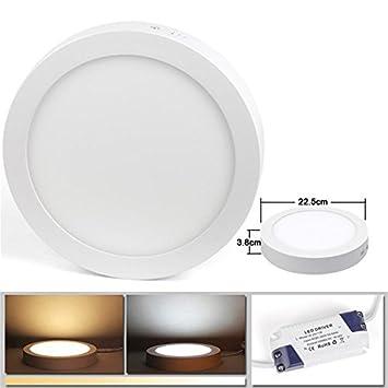 LED Panel Leuchte 18W Kaltweiß(6000K) Deckenleuchte, LED Panellampe ...