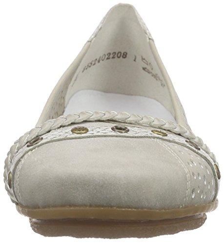 Rieker 43955 - Bailarinas Mujer Gris (Grey/ice/ice / 40)