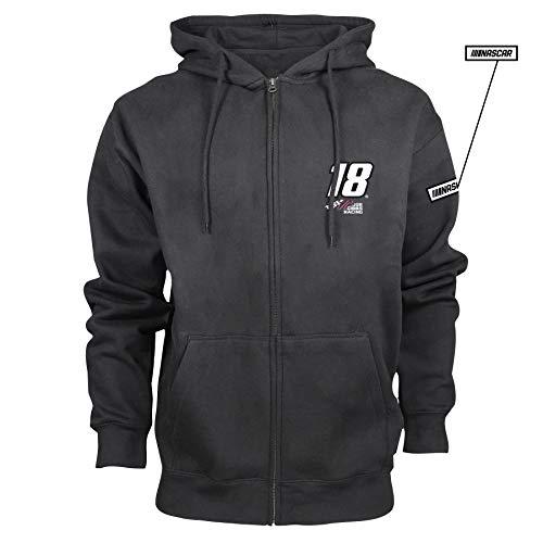 Busch Hood - NASCAR Joe Gibbs Racing Kyle Busch Mens M Benchmark FZ HoodM Benchmark FZ Hood, Black, 2X