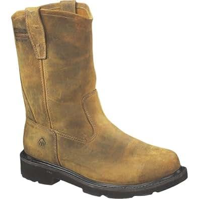 """Men's Wolverine® Saturn Steel-Toe EH Wellington 10"""" Work Boot (7 EW in Brown)"""