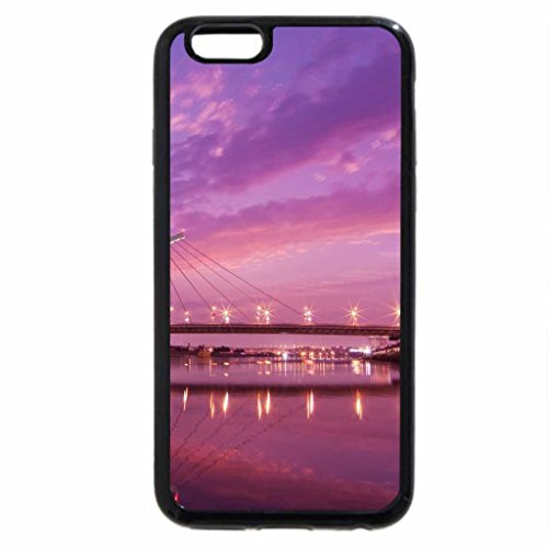 iPhone 6S / iPhone 6 Case (Black) Taipei Dazhi Bridge Sunset