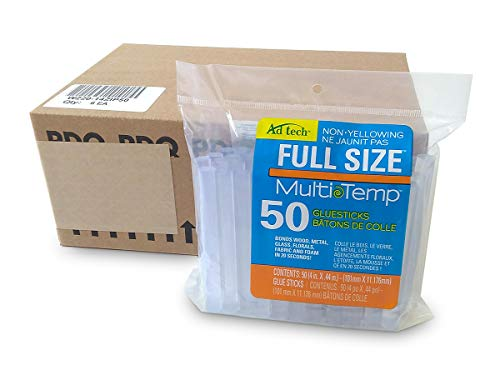 AdTech 14ZIP50-CASE Full Size Multi Temp Clear Bulk Glue Sticks, 4 inch length, 300 Pieces by Adhesive Technologies (Image #1)