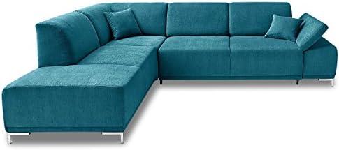 Sofa Couch Ecksofa Xl Saba Mit Sitzverstellung Blau Mit