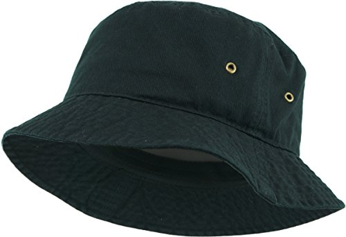 KBETHOS KB-BUCKET1 BLK Unisex 100% Washed Cotton Bucket Hat Summer Outdoor Cap