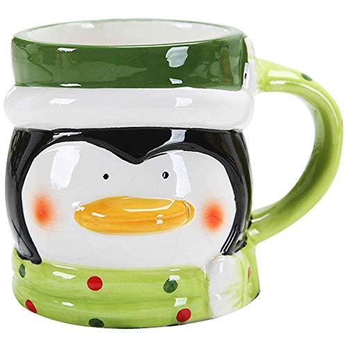 - Christmas Mugs 3D Figural Santa Snowman Penguin Bear Cute Cartoon Multicolor Christmas Coffee Tea Cup Holiday Drinkware Great for Christmas Gifts