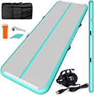 ChampionPlus 10ft 13ft 16ft 20ft Air Tumbling Track Inflatable Gymnastics Mat 4/8 inches Thickness Tumbling Ma