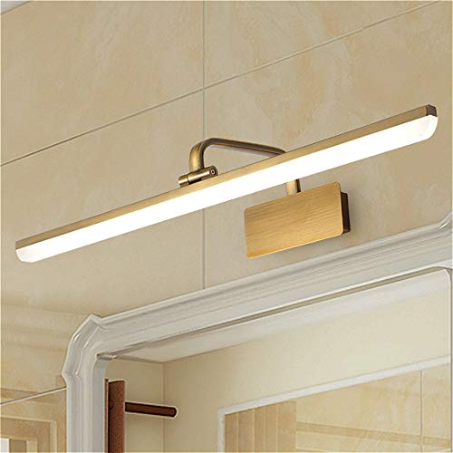 SUSUO Adjustable Bathroom Vanity Light with Swivel Lamp Head,Long Shade Makeup Light -