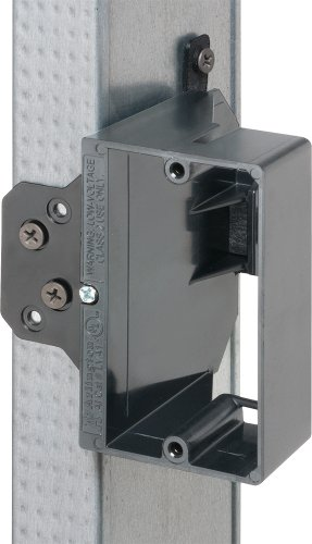 Arlington LVA1-25 Adjustable Depth Low Voltage Mounting Brackets, Fits up to 1-1/2-Inch Walls, 1-Gang, 25-Pack by Arlington Industries (Image #3)