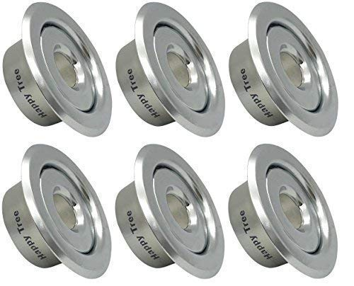 """Happy Tree (6 Pack) 1/2"""" IPS Fire Sprinkler Head Escutcheon Plate Standard Recessed Cover Ring Two Piece Rosette Chrome"""