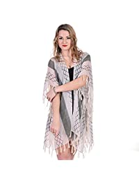 Women Summer Wear Highlight Twigs Printed Oversize Cover Up Cape Kimono Cardigan