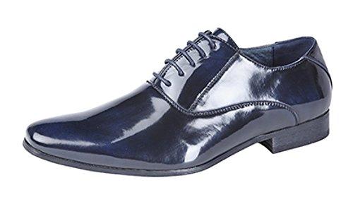 Lot de 5Oxford Uni à œillets de chaussures en cuir avec doublure (10UK, bleu marine)