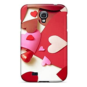 First-class Case Cover For Galaxy S4 Dual Protection Cover Valentine¡¯s Day Love Heart Shaped Paper