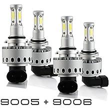 9005+9006 Combo 200W 20000LM LED Headlight Kit High & Low Beam Light Bulbs 3 Year Warranty