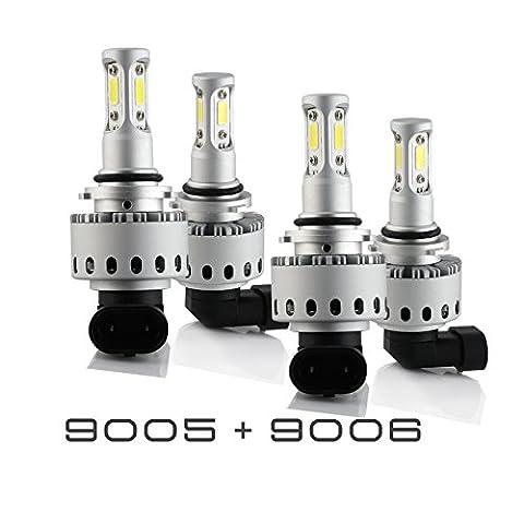 9005+9006 Combo 200W 20000LM CREE LED Headlight Kit High & Low Beam Light Bulbs 3 Year Warranty - 2000 Camaro Headlights