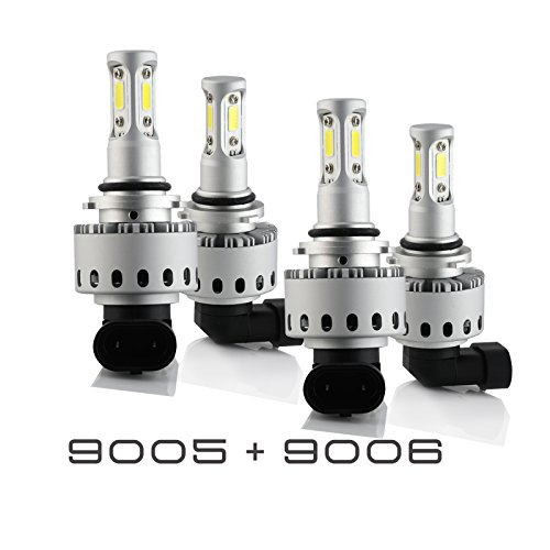 9005+9006 Combo 200W 20000LM LED Headlight Kit High & Low Beam Light Bulbs 3 Year - Light Kit Beam
