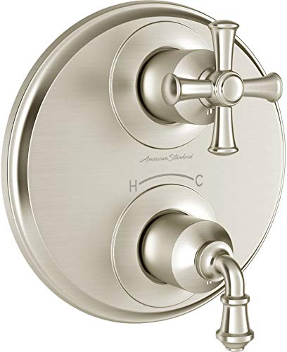 American Standard T052740.295 Delancey Two-Handle Thermostat Trim, Brushed Nickel