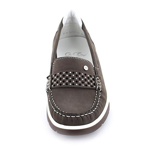 Damas ancho Street talla gris Mokassin Silber plateado 37 en ARA cuero en H 41 r4TrS6xq