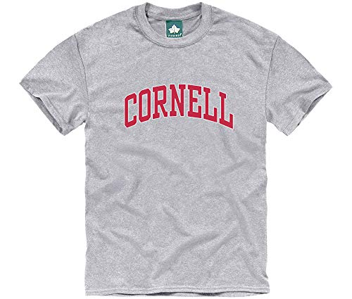 Ivysport Cornell University Big Red Short-Sleeve T-Shirt, Classic, Charcoal Grey, Small (Cornell Vintage Apparel)