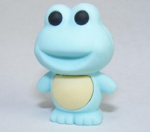 2 Pack. Pastel Blue Color Frog Japanese School Erasers