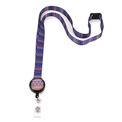 Grekywin Pop Pattern Lanyard Keychain, ID Badge Holder, Colorful Card Holder for Id, key,cell Phone