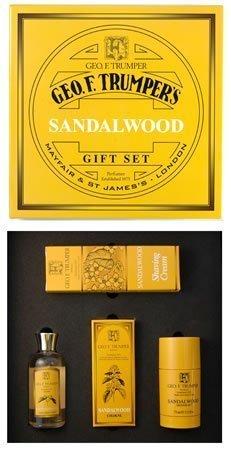 Geo F Trumper Sandalwood Men's Shaving and Grooming Gift Box Set