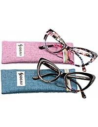 Womens Oversized Fashion Cat Eye Eyeglasses Frame Large...