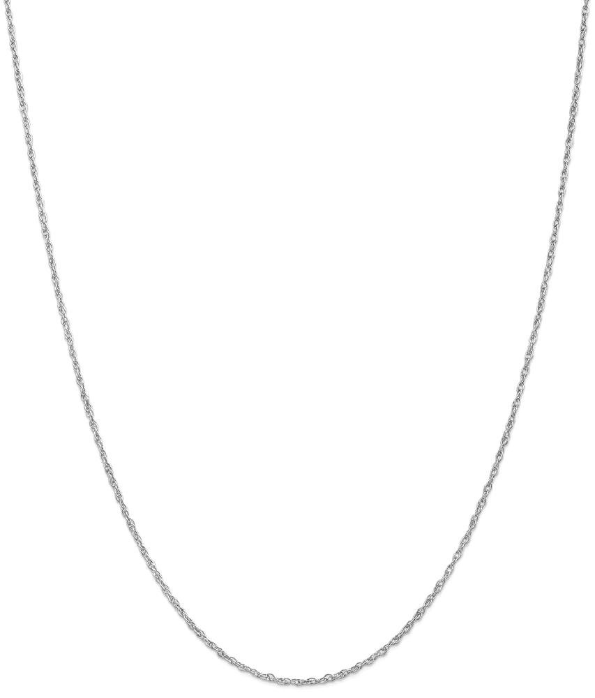 ICE CARATS 14k White Gold 1.3mm Heavy Baby Link Rope Chain Necklace 24 Inch Fine Jewelry Gift Set For Women Heart