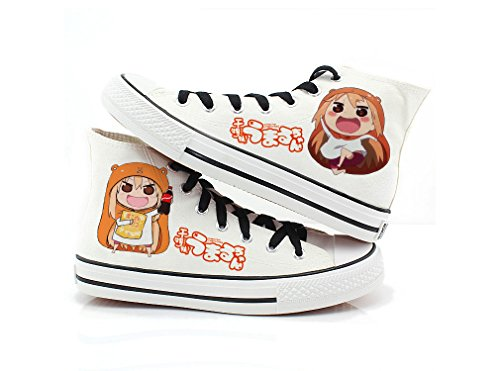 Himouto! Umaru-chan Doma Umaru Cosplay Chaussures Toile Chaussures Sneakers Noir / Blanc Blanc 2