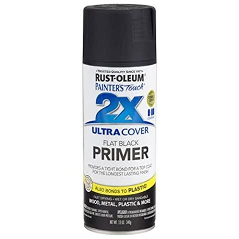 Rust-Oleum 249846 Painter's Touch Multi Purpose Spray Paint, 12-Ounce, Flat Black Primer by (Painters Touch Flat Black)