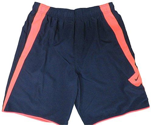 Nike Mens Swim Trunks Navy/Orange, Medium