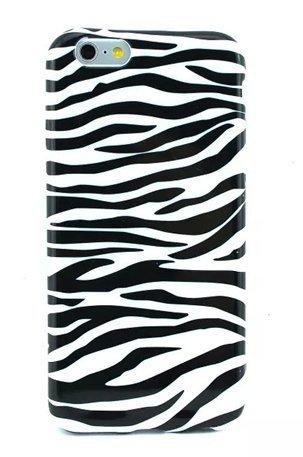 Newstore iPhone 6 Plus Case,Zebra Printed Pattern Soft Silicone Gel TPU Rubber Skin Case Cover Protective For iPhone 6 Plus 5.5 inch (Case Silicone Zebra Cover)